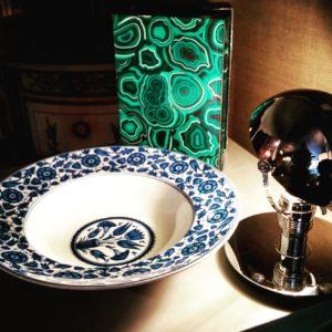 Caja decoración malaquita
